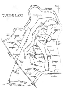 Map of Queens Lake